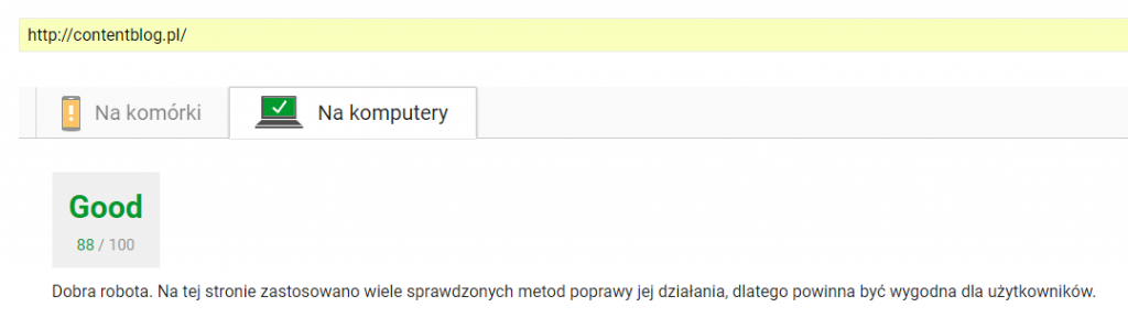 pagespeed włączona wtyczka do wordpressa