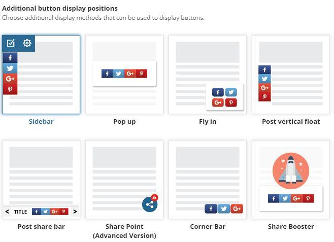 wybór pozycji przysków social media