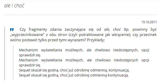 przykład ze słownika polskiego